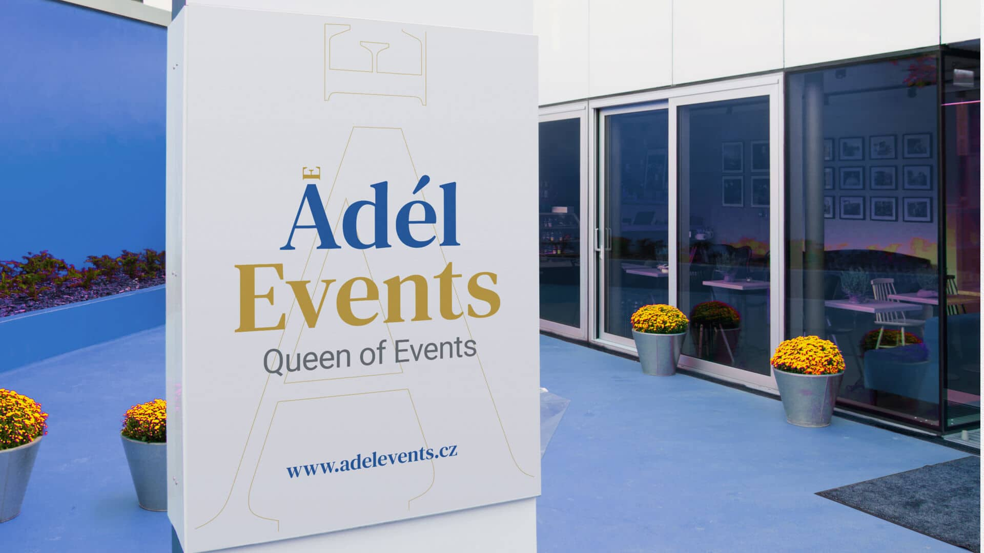 Tvorba loga avizuální identity Adel events plakát