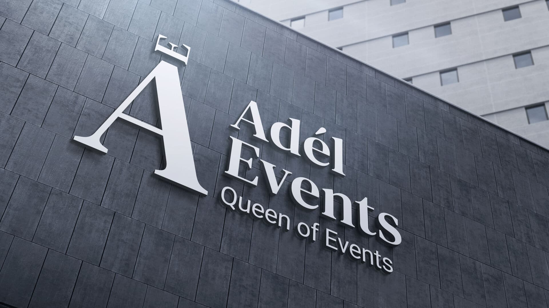 Tvorba loga avizuální identity Adel events nabudově