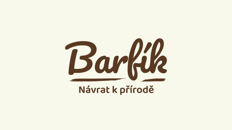 Tvorba loga avizuální identity Barfík packshot