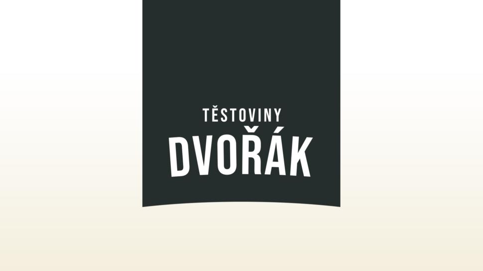 Tvorba loga avizuální identity Těstoviny Dvořák packshot