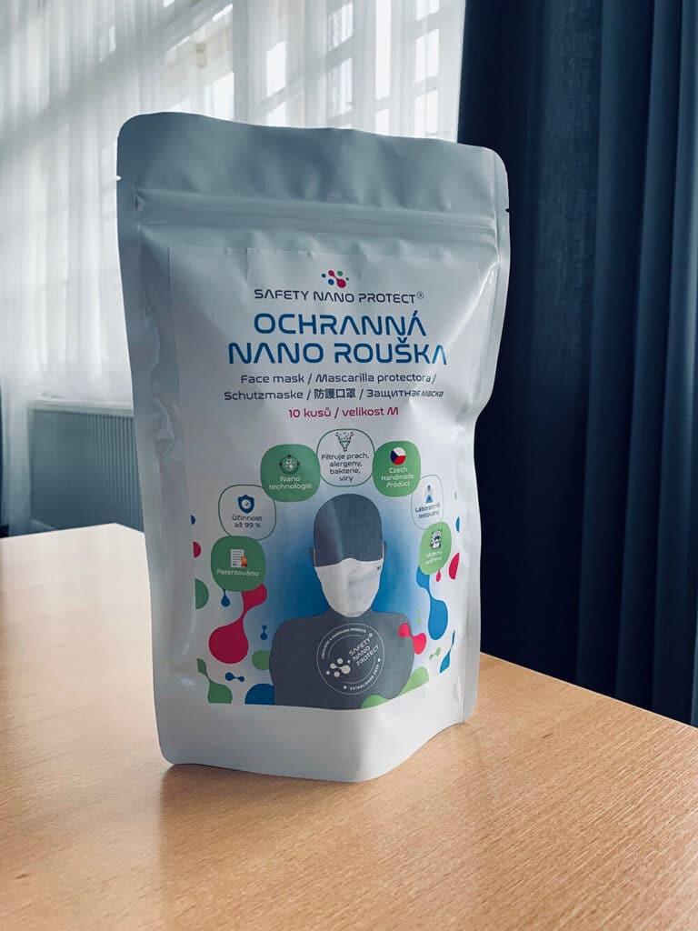 Tvorba loga avizuální identity Safety Nano Protect obal