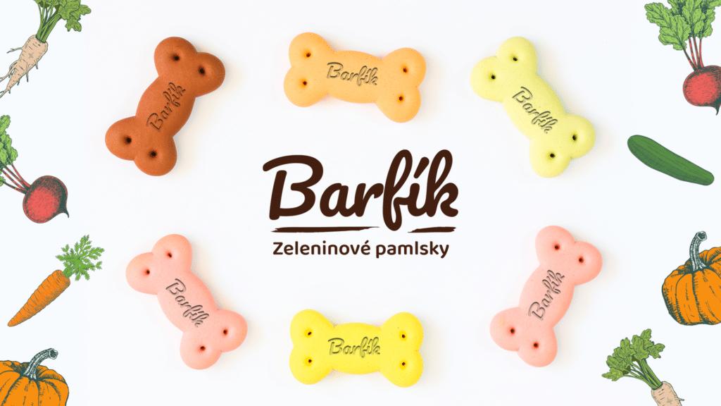 Tvorba loga avizuální identity Barfík pamlsky