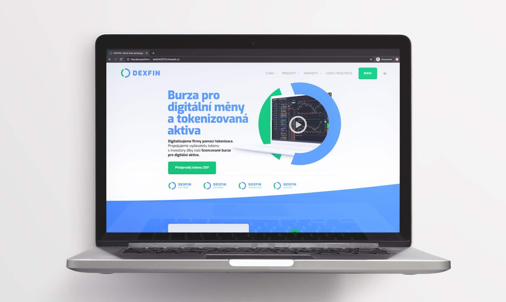 Tvorba loga avizuální identity Dexfin webové stránky