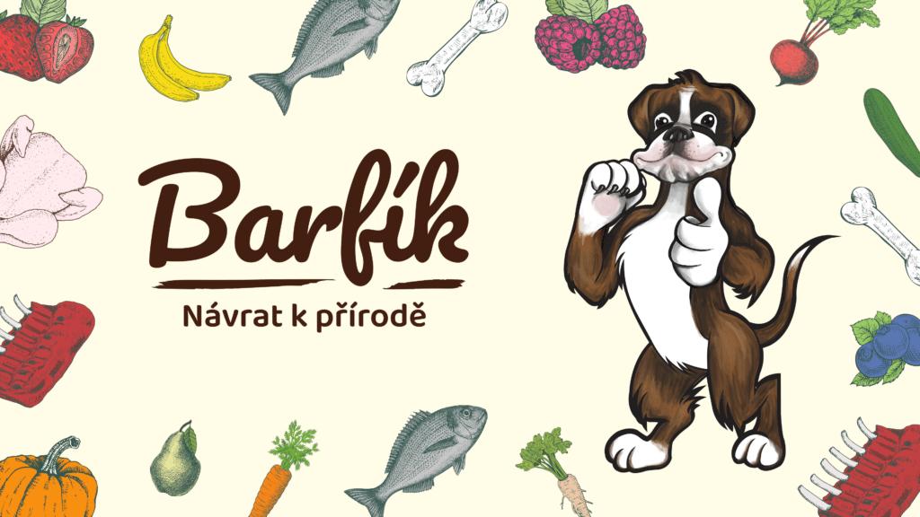 Tvorba loga avizuální identity Barfík packshot amaskot