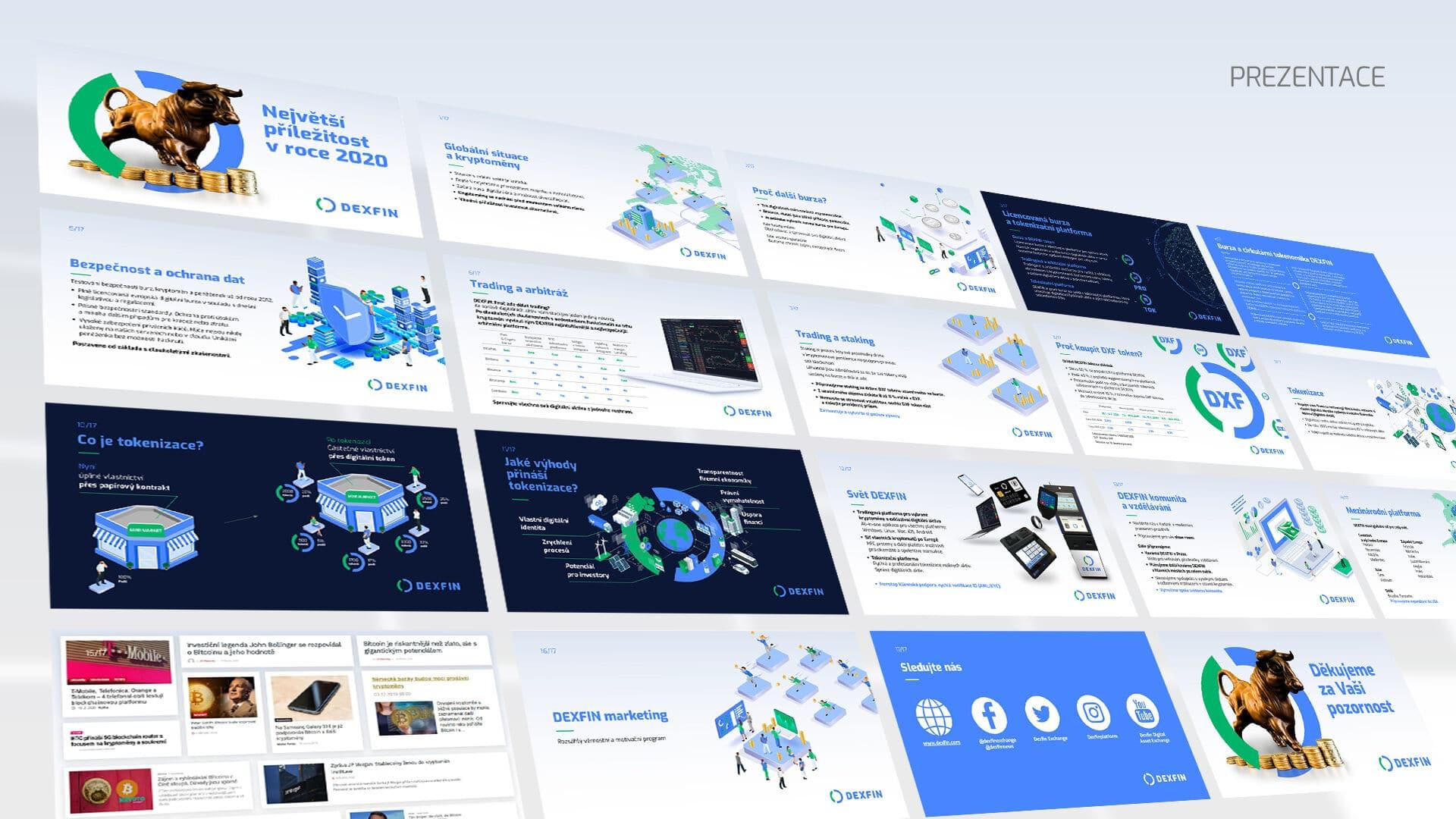 Tvorba loga avizuální identity Dexfin prezentace webinář