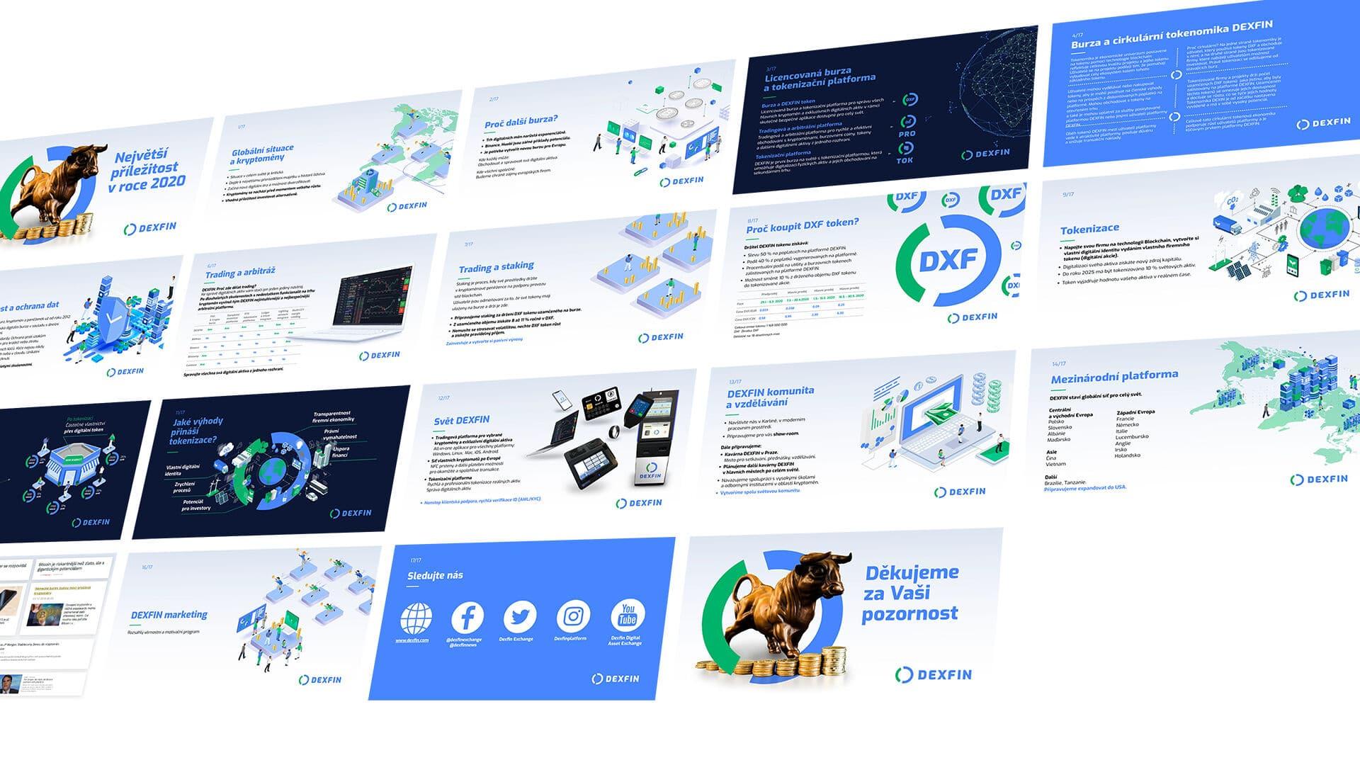 Tvorba loga avizuální identity Dexfin prezentace