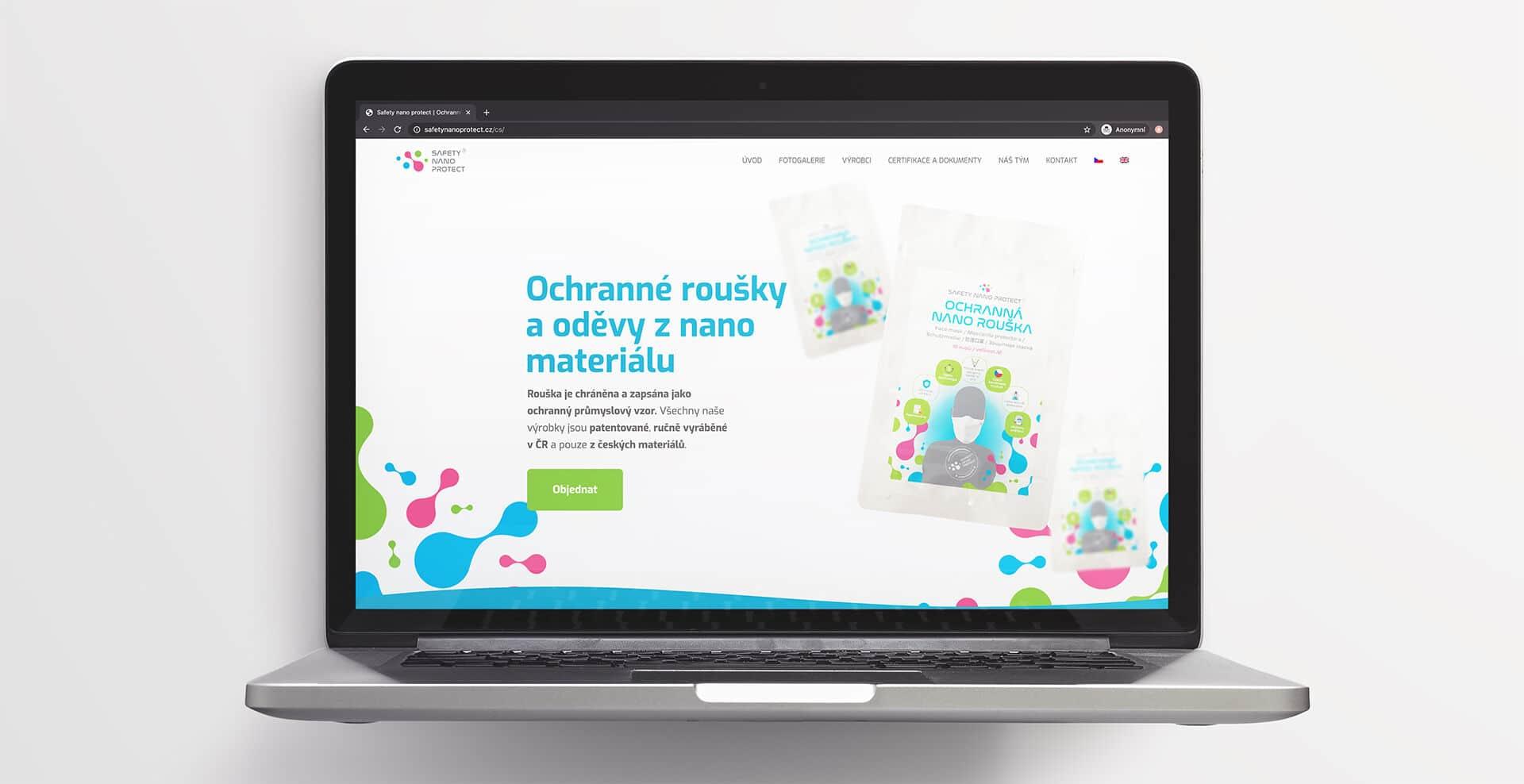 Tvorba loga avizuální identity Safety Nano Protect webové stránky