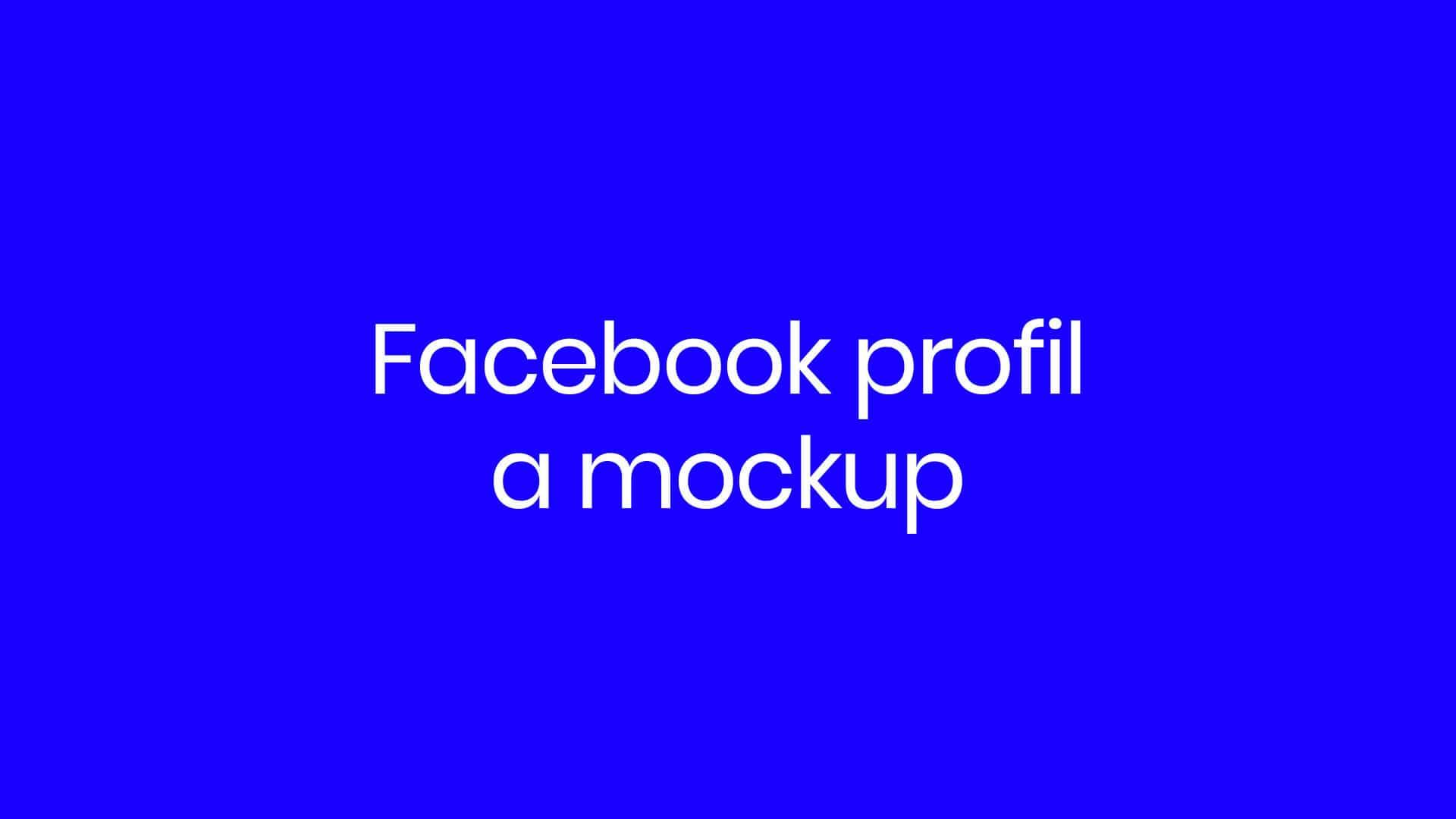 20. díl - Facebook profil amockup